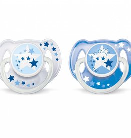 Avent Avent 176 Soother N/Time 6-18Mths 0% Bpa 2Pk