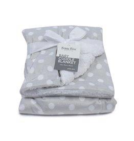 Bubba Blue Bubba Blue Polka Dots Reversible Cuddle Blanket