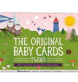 Milestone Milestone Baby Twin Cards - 1 Set