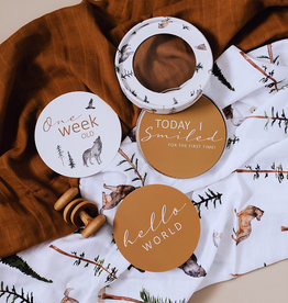 Snuggle Hunny Kids Snuggle Hunny Kids Reversible Milestone Cards - Alpha & Bronze
