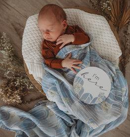 Snuggle Hunny Kids Snuggle Hunny Kids Reversible Milestone Cards - Eventide & Ice Blue