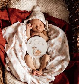 Snuggle Hunny Kids Snuggle Hunny Kids Reversible Milestone Cards - Paradise & Sunrise Gold