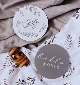 Snuggle Hunny Kids Snuggle Hunny Kids Reversible Milestone Cards - Wild Fern & Grey