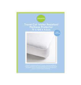 Playette Playette Travel Embossed Mattress  Protector - White