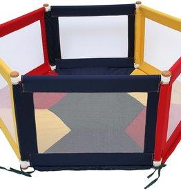 Tikk Tokk Tikk Tokk Pokano Hexagonal Fabric Playpen  - Multi Coloured
