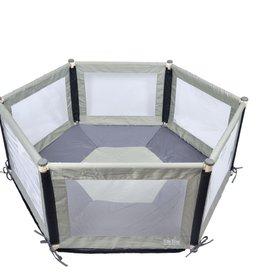 Tikk Tokk Tikk Tokk Pokano Hexagonal Fabric Playpen  - Grey