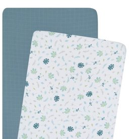 Living Textiles Living Textile Banana Leaf Organic Muslin 2pk Cradle/Co- Sleeper Fitted Sheet