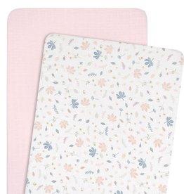 Living Textiles Living Textile Botanical Organic muslin 2pk cradle/Co-Sleeper Fitted Sheet