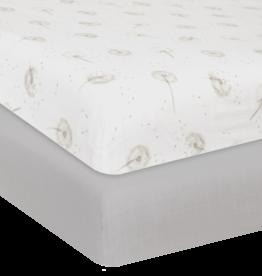 Living Textiles Living Textile Dandelion Organic Muslin 2pk Cot Fitted Sheet