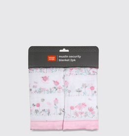 Weegoamigo Weegoamigo Muslin Security Blanket 2 Pack