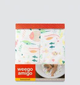Weegoamigo Weegoamigo Bass Fitted Sheet 2pk