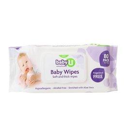 Baby U Baby U Baby Wipes Fragrant Free 80pk
