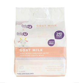 Baby U Baby U Goat Milk Wipes 240pk