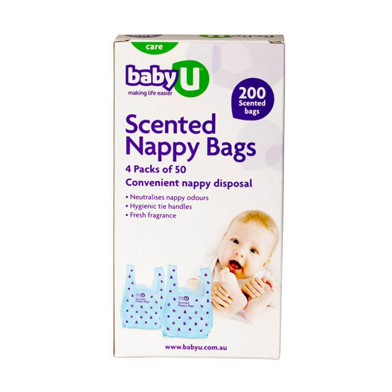 Baby U Baby U Scented Nappy Bags 200pk