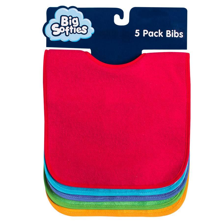 502e8abbd Big Softies 5 Pack Bright Bibs Bright - Sweet Lullabies