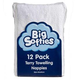 Big Softies Big Softies Towelling Nappies White