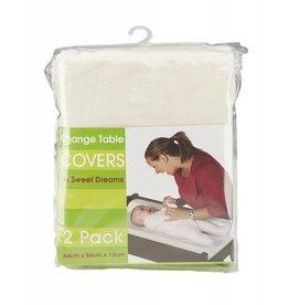 Sweet Dreams Sweet Dreams Change Table Mattress Covers 2 Pk