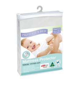 Protect-A-Bed Protect-A-Bed Mattress Protector Tencel Fitted Cot (130cmx68cm)