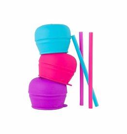 Boon Boon Snug Straw 3pk Lids - Girl