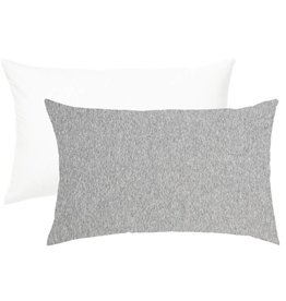 Living Textiles Living Textiles 2-pack Jersey Cot Pillowcase White/Grey Stripe/Melange