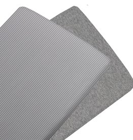 Living Textiles Living Textiles 2-pack Jersey Cradle Fitted Sheet