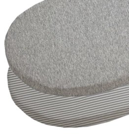 Living Textiles Living Textiles 2-pack Jersey Round Cot Fitted Sheet