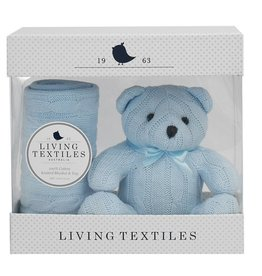 Living Textiles Living Textiles Cable Knit Blanket & Toy Set
