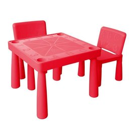 Jolly Kidz Jolly Kidz Plastic Table and Chairs