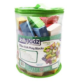 Jolly Kidz Jolly Kidz Play Blocks Assorted Foam Shapes 50pcs