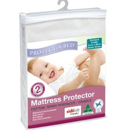 Protect-A-Bed Protect-A-Bed Terry Cotton Cradle/Portacot 91x56cm with elastic straps