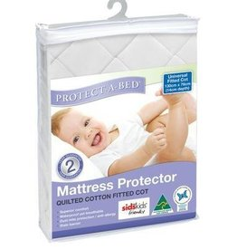 Protect-A-Bed Protect-A-Bed Universal (Boori) Cotton Woven Quilted Fitted Cot 130x76cm