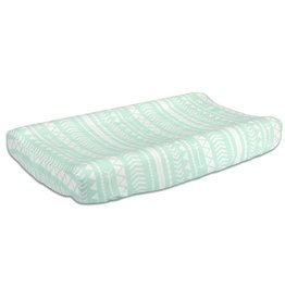 The Peanut Shell Peanut Shell Changing Pad Cover Tribal Mint