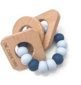 OneChewThree OneChewThree Shapes Silicone and Beech Wood Teether