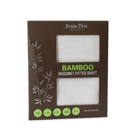 Bubba Blue Bubba Blue Bamboo White Bassinet Fitted Sheet