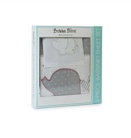 Bubba Blue Bubba Blue Petit Elephant Bassinet Sheet Set