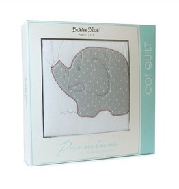 Bubba Blue Bubba Blue Petit Elephant Cot Quilt / Comforter