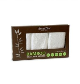 Bubba Blue Bubba Blue Bamboo 3pk Face Washers - White