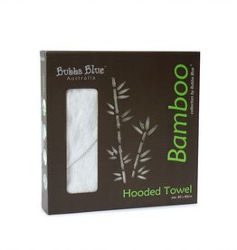 Bubba Blue Bubba Blue White Bamboo Hooded Towel
