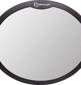 Infa Secure InfaSecure Large Round Mirror Black