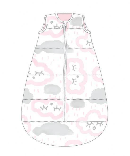 Baby Studio Baby Studio Cotton My First Studio Bag-2.5 Tog Clouds-Pink 0-6M
