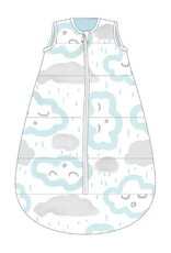 Baby Studio Baby Studio Cotton My First Studio Bag - 1.0 Tog Clouds-Peppermint 0-6M