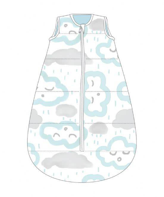 Baby Studio Baby Studio Cotton My First Studio Bag - 1.0 Tog Clouds-Peppermint 0-6M
