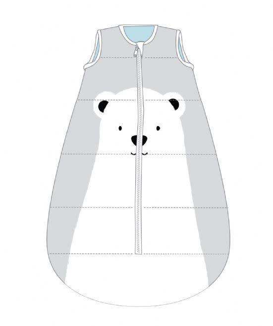 Baby Studio Baby Studio Cotton Fleece Winter Sleeping Bag - 3.5 Tog Polar Bear