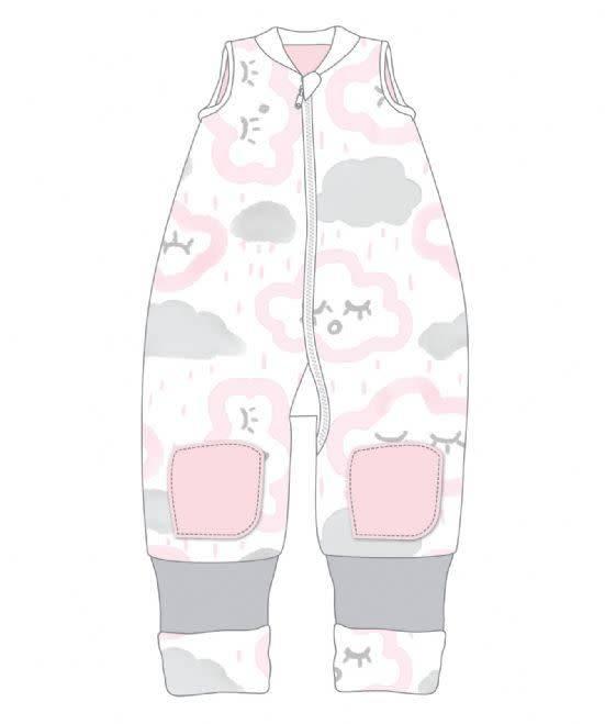 Baby Studio Baby Studio Winter Warmies 6-12M No Arms 2.5 Tog Clouds - Pink