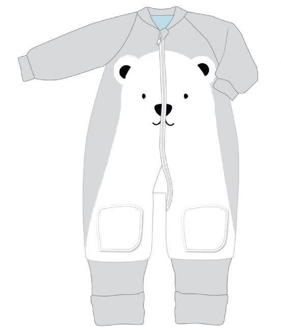 Baby Studio Baby Studio Winter Warmies Fleece with Arms - 3.5 Tog Polar Bear