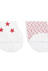 Aden + Anais Aden + Anais Red Limited Edition Classic Burpy Bibs 2 pack