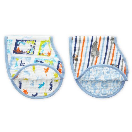 Aden + Anais Aden + Anais Disney Baby Classic Burpy Bibs 2-Pack