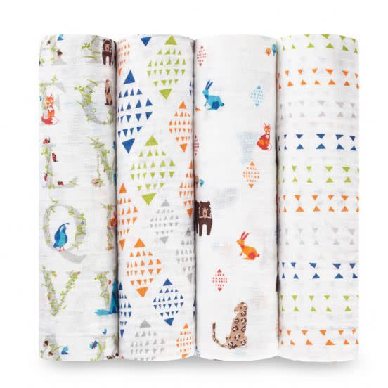 Aden + Anais Aden + Anais Paper Tales 4-Pack Swaddle