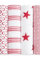 Aden + Anais Aden + Anais Red Limited Edition 4-Pack Swaddle
