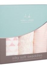 Aden + Anais Aden + Anais Metallic Bamboo Primrose Birch 3 Pack Swaddles